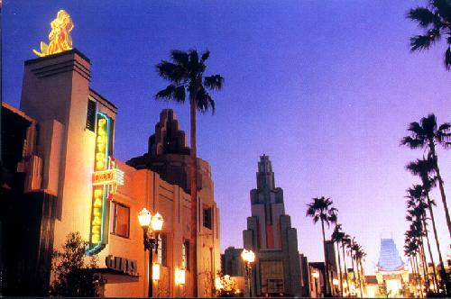 Sunset over Hollywood Boulevard