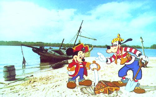 0111-0375 MICKEY MOUSE AND GOOFY ON DISCOVERY ISLAND