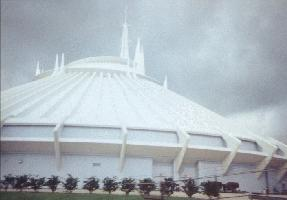Space Mountain from outside the berm