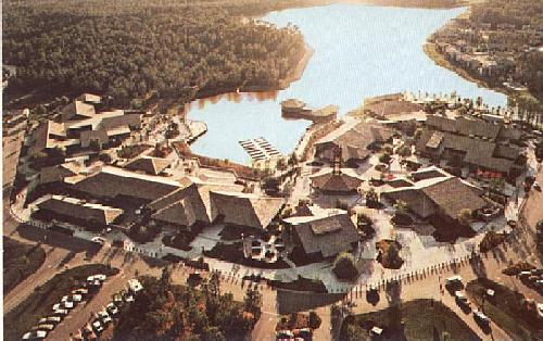 01110502 A birds view of the Lake Buena Vista Shopping Village  -image courtesy Dave Ensign