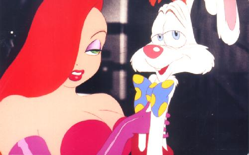 70109-500 (18K) Jessica and Roger Rabbit