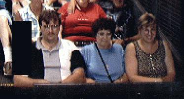Tower of Terror front row right side me mom and sis